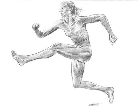 Nude Runner Sprints by mozer1a0x