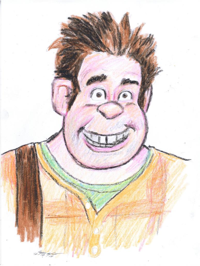 wreckit Ralph crayon sketch by mozer1a0x