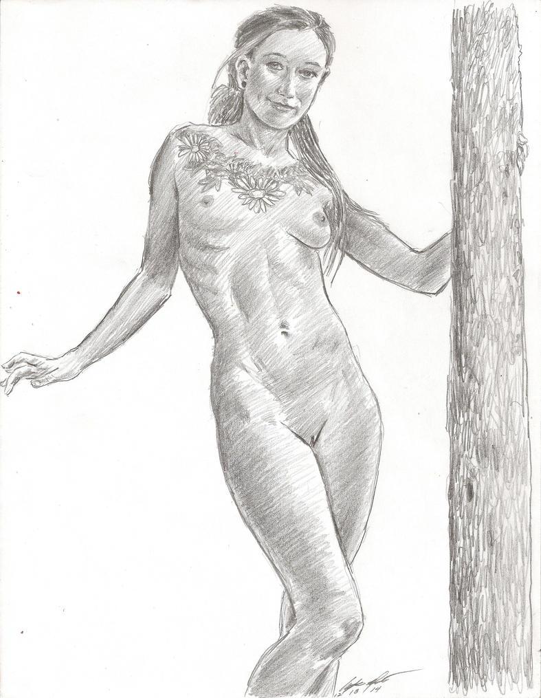 Danailya 4 pencil sketch by mozer1a0x