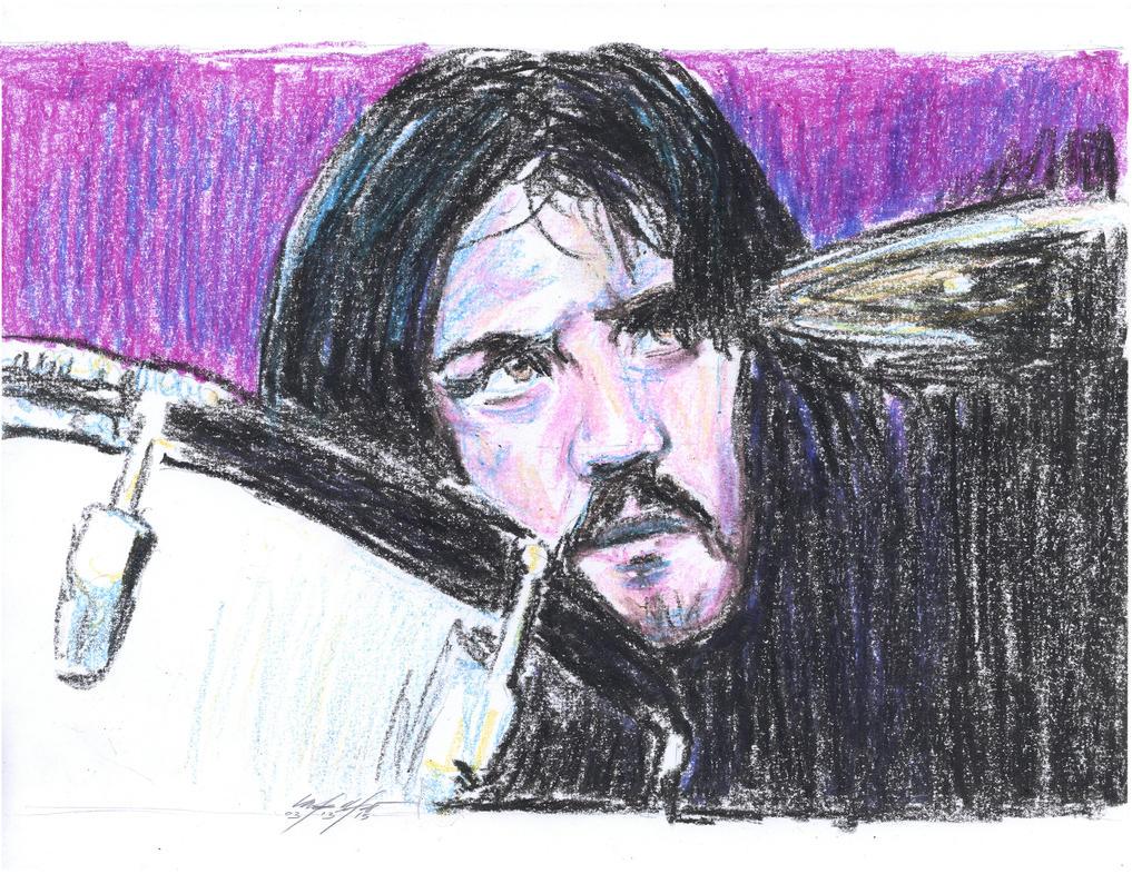 John Bonham crayons portrait by mozer1a0x