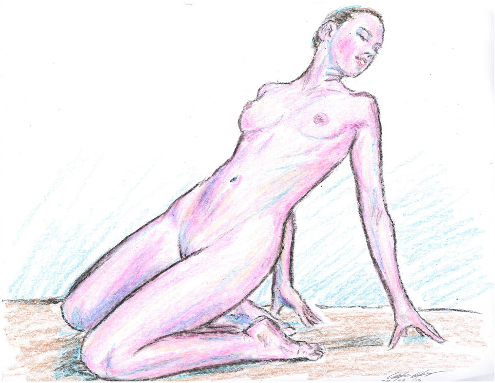 kneeling n reaching back Pink form by mozer1a0x