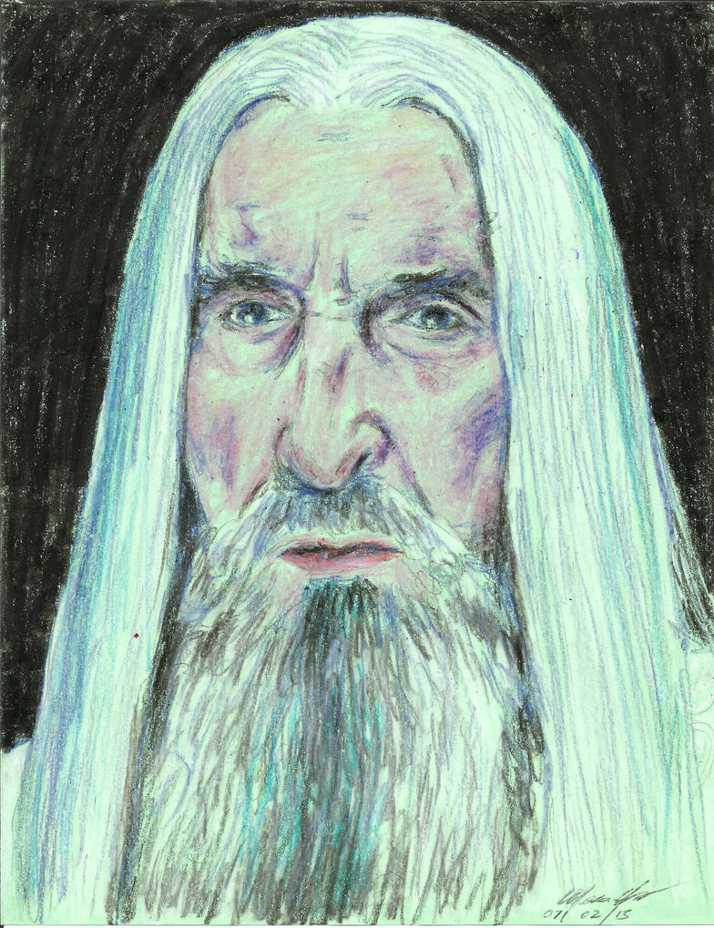 Christopher Lee Saruman by mozer1a0x