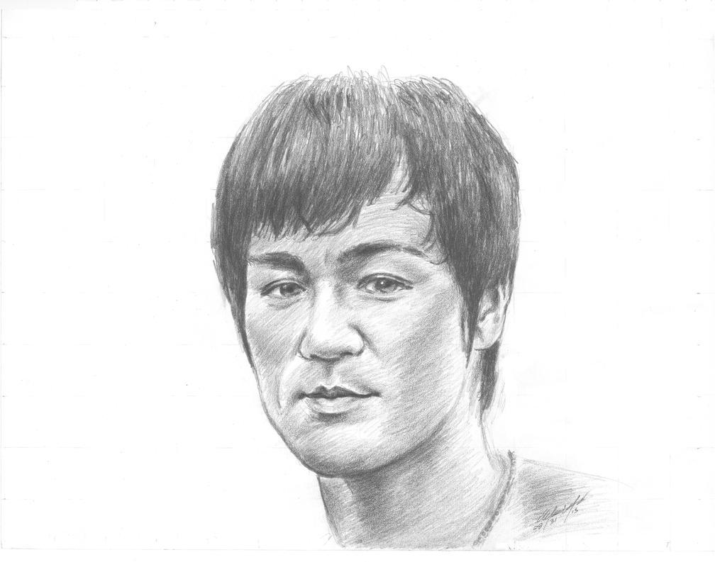Bruce Lee portrait by mozer1a0x
