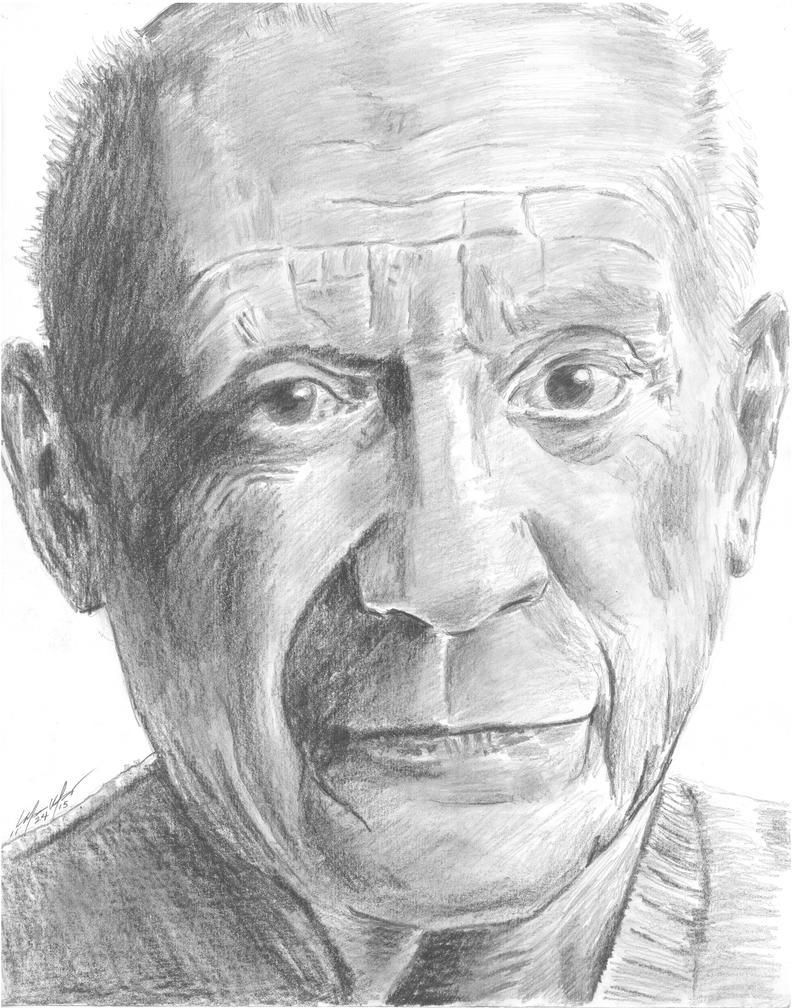 Pablo Picasso portrait by mozer1a0x