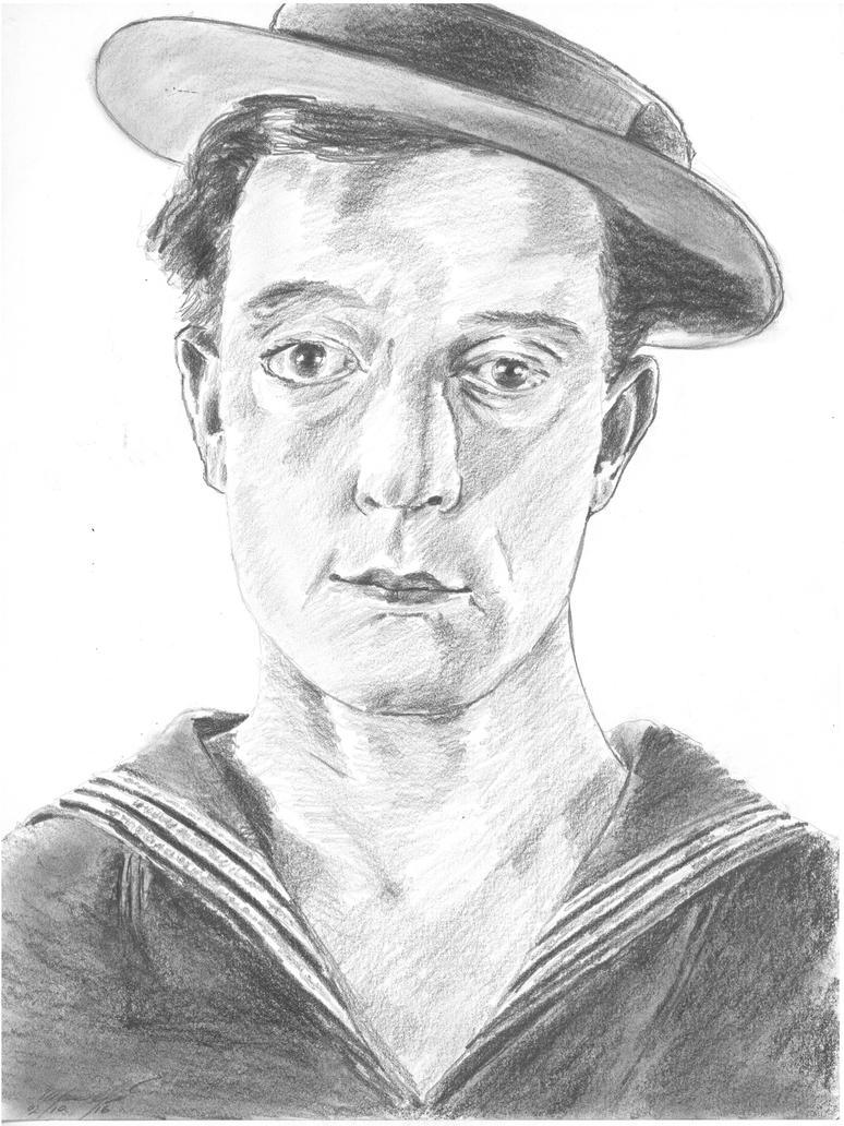 Buster Keaton portrait by mozer1a0x