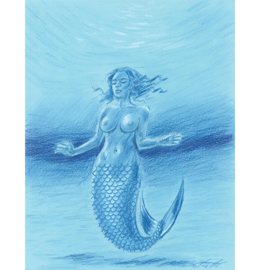 Glimmering warm blue mermaid by mozer1a0x