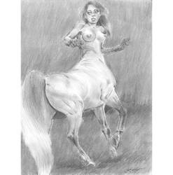 Centaur girl gallop n turn by mozer1a0x