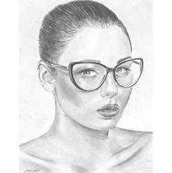 Gazing specs n pout