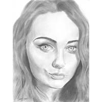 S F pout portrait