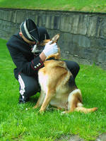 An officer and his dog. by Blodsravn