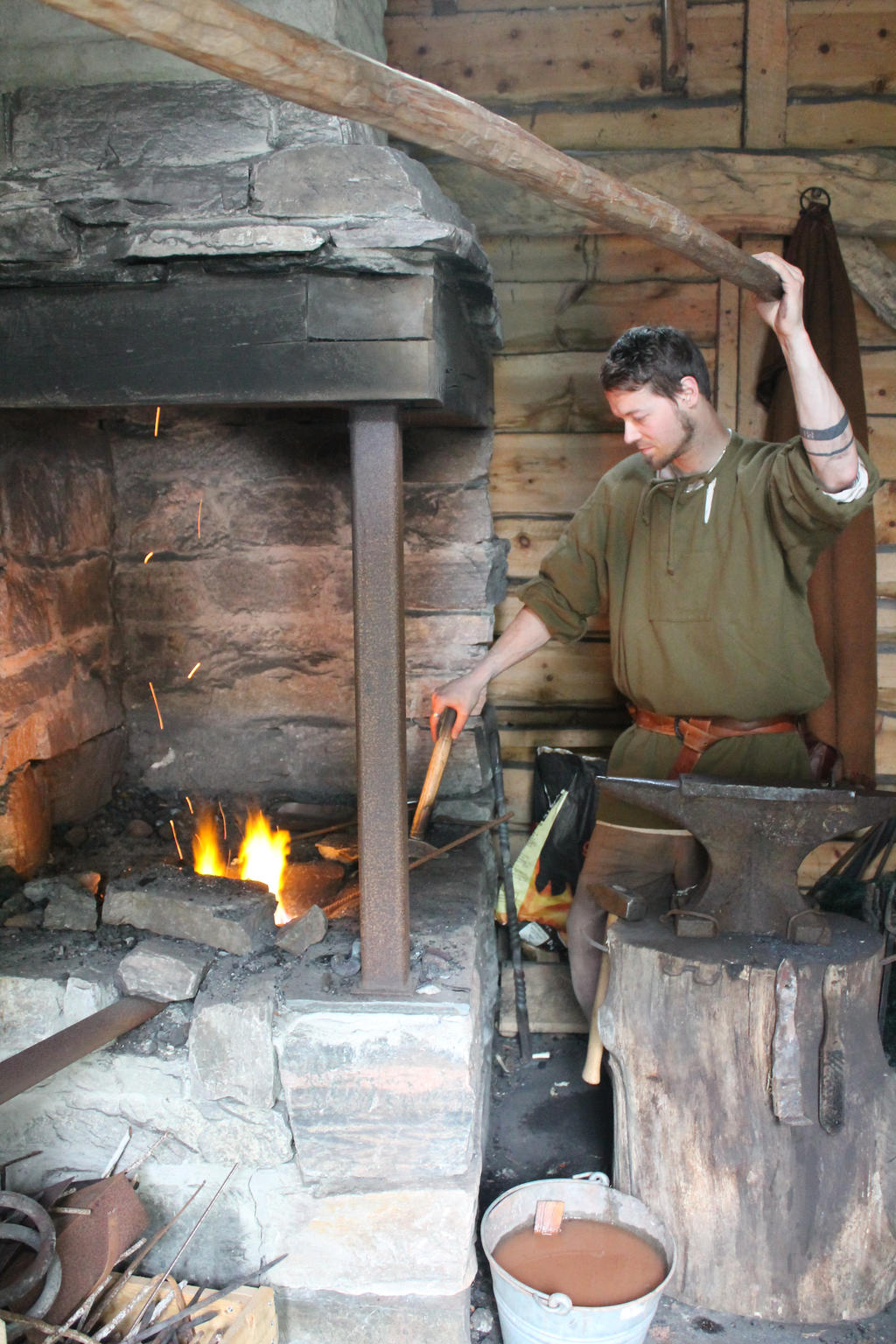 Viking blacksmith by Blodsravn
