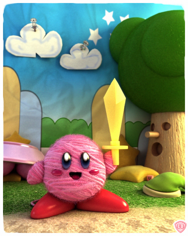 Kirby Epic Yarn Ball by vikung-fu