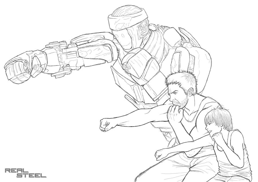 zeus real steel coloring pages | real steel colouring pages (page 2)