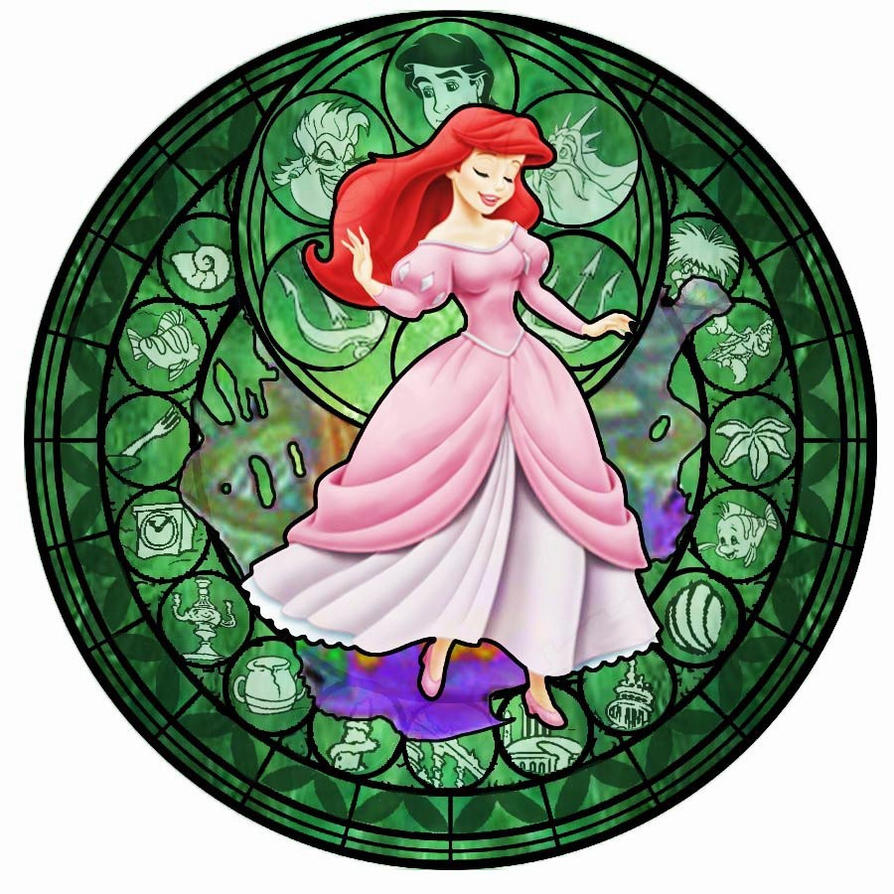 Ariel KH Stained Glass By Bummi1 On DeviantArt
