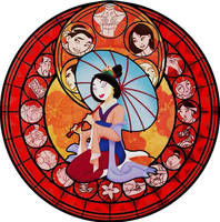 Mulan KH Stained Glass by bummi1