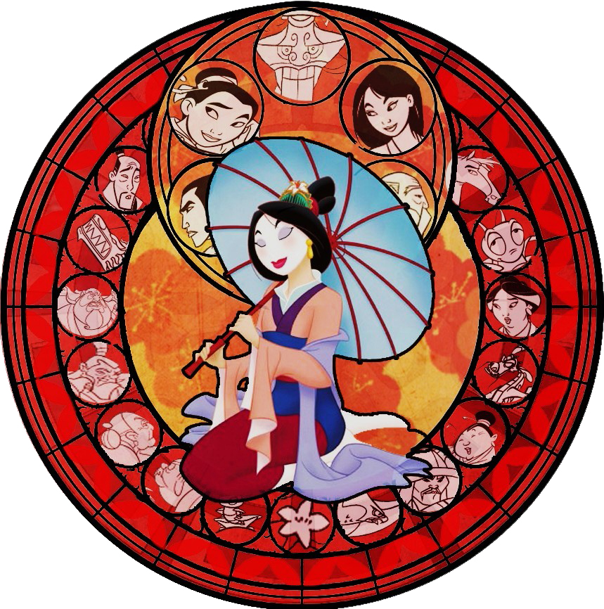 mulan kh stained glass by bummi1 on deviantart. Black Bedroom Furniture Sets. Home Design Ideas