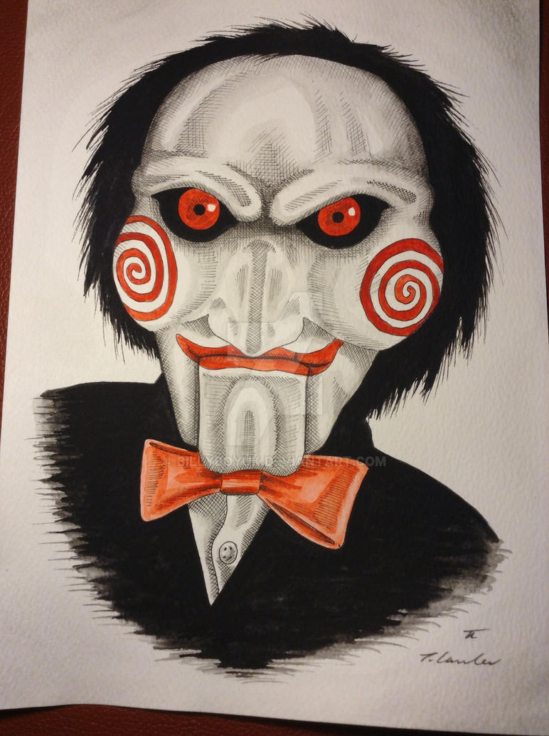 SAW BILLY PUPPET drawing/painting by billyboyuk on DeviantArt