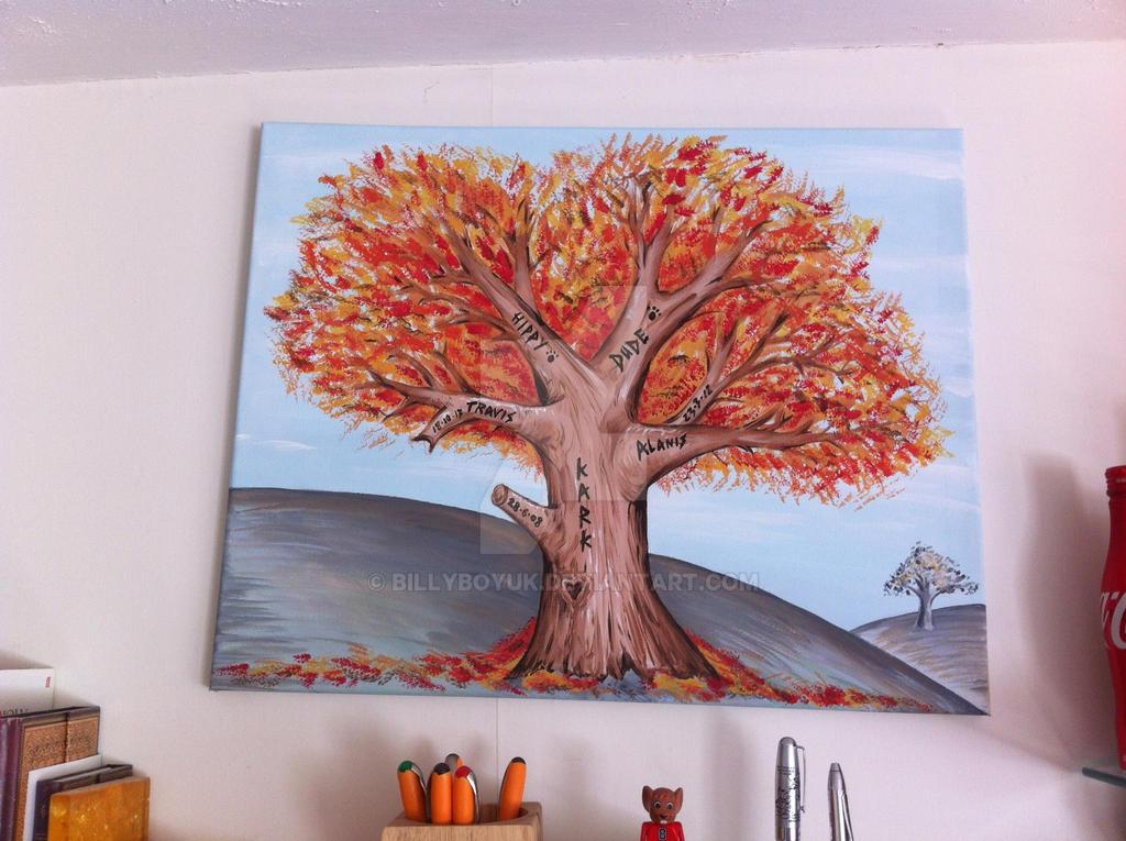 Family Tree Painted Canvas Art By Billyboyuk