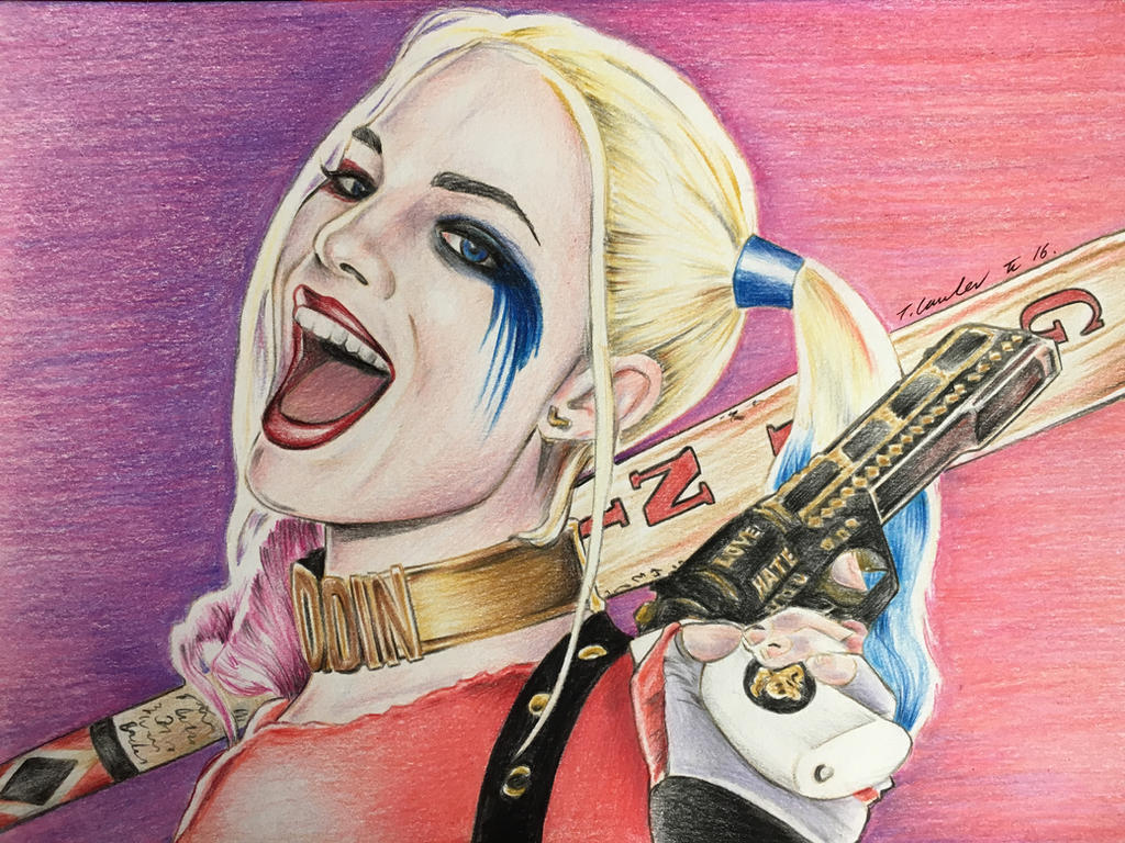 Harley Quinn suicide squad pencil drawing by billyboyuk on DeviantArt