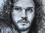 Game of Thrones Jon Snow pen drawing