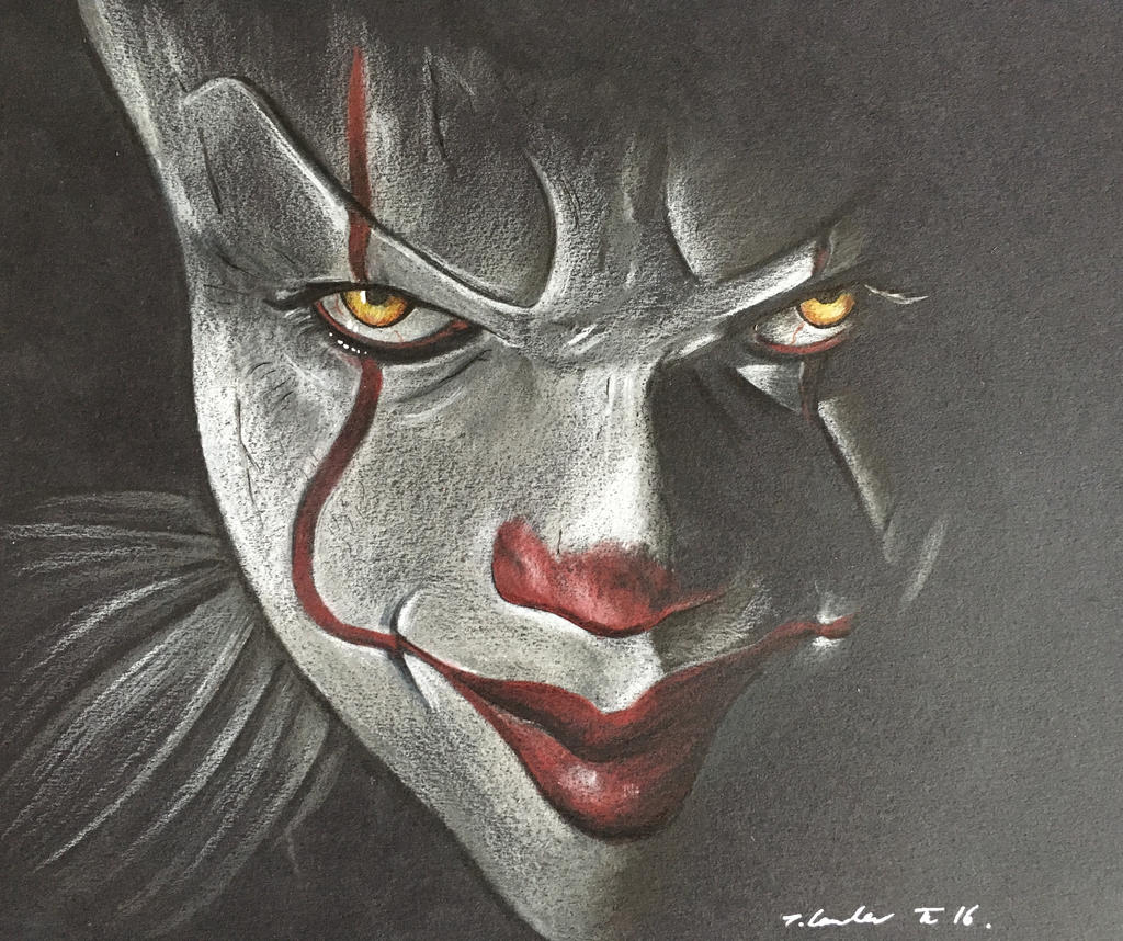 Pennywise the clown IT drawing 2016 by billyboyuk on ...