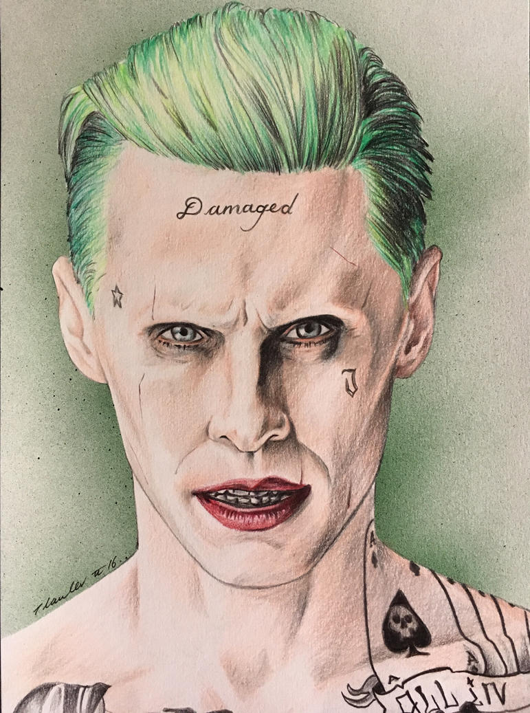 Suicide squad joker jared leto by billyboyuk on deviantart for Suicide squad face tattoo