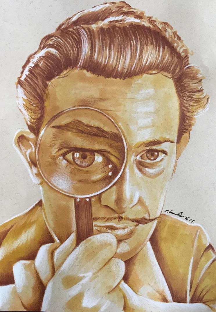 Salvador Dali drawing by billyboyuk