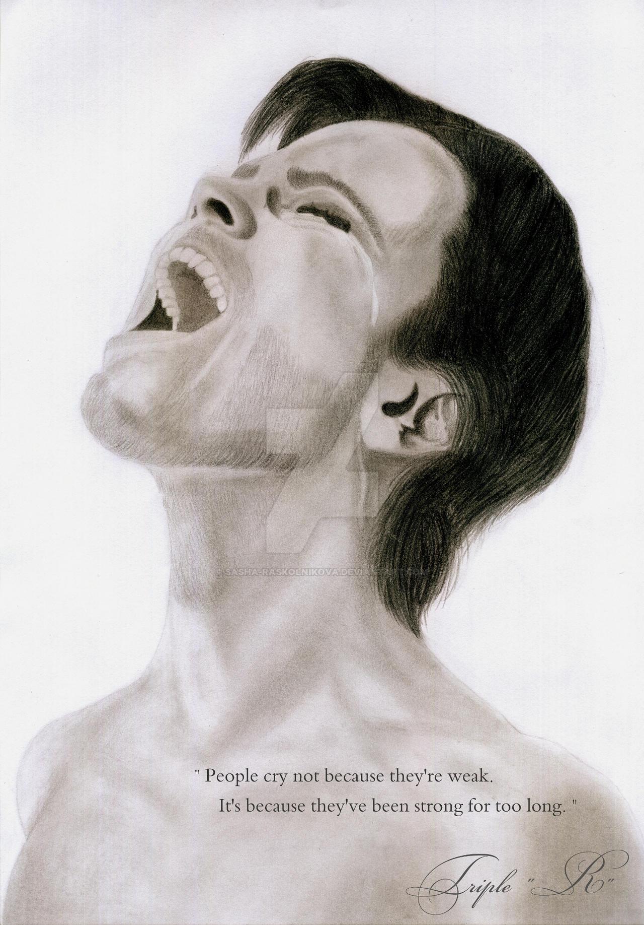 ''Crime and Punishment'': Murderer's scream by Sasha-Raskolnikova