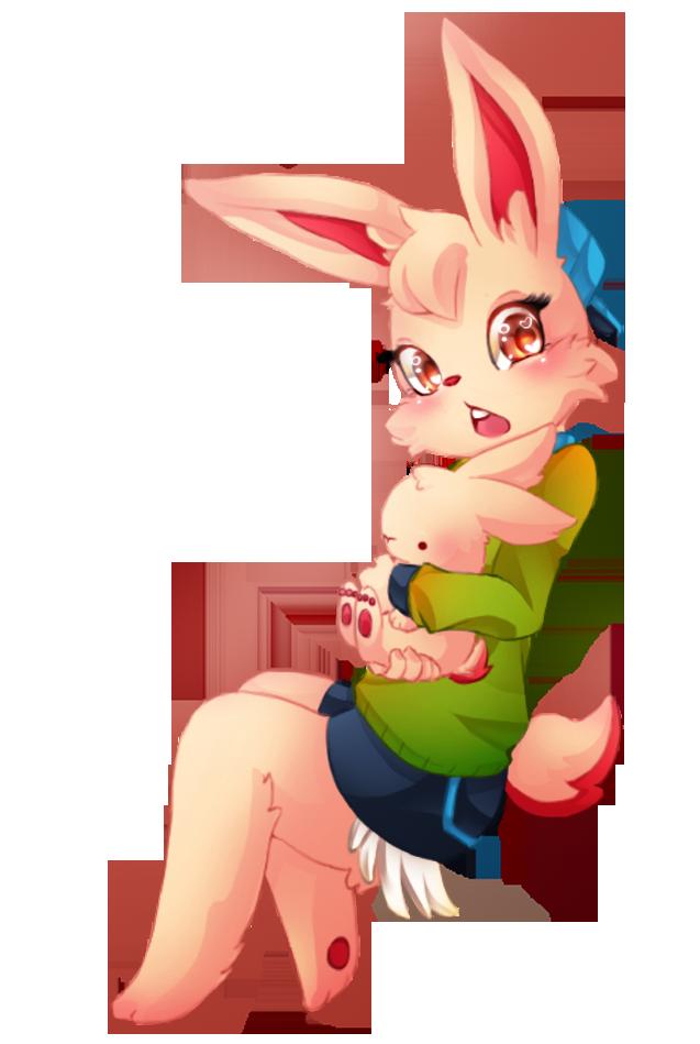 UT Rabbit Girl and Cinnamon by keary