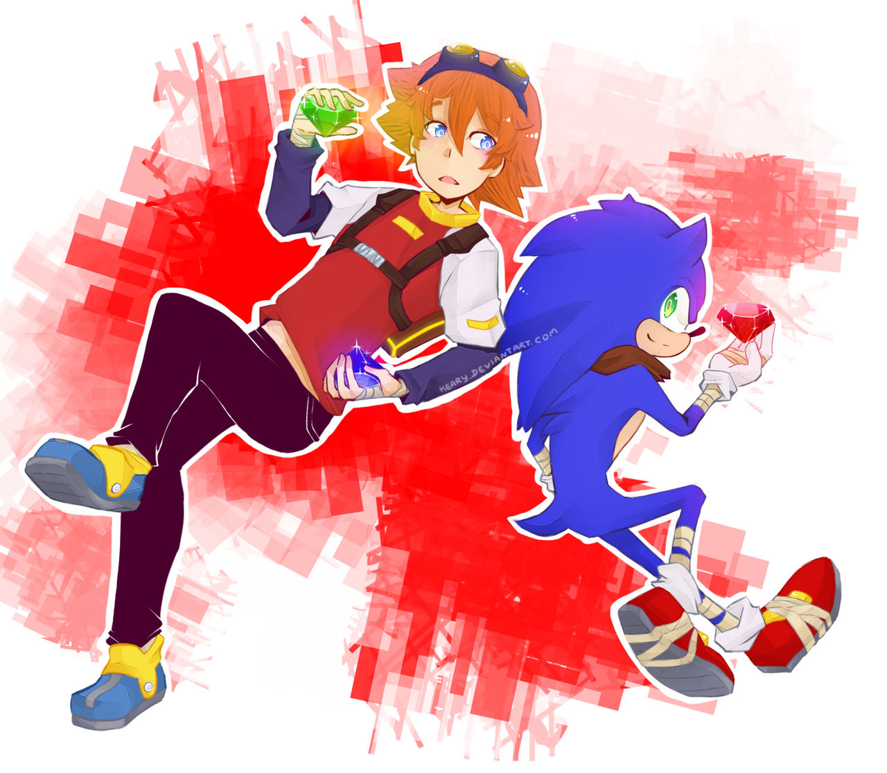 Chris And Sonic Boom By Keary On Deviantart