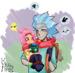 RAM AU: Rick and little Morty by keary