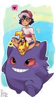Pokemon: Satoshi and Gengar