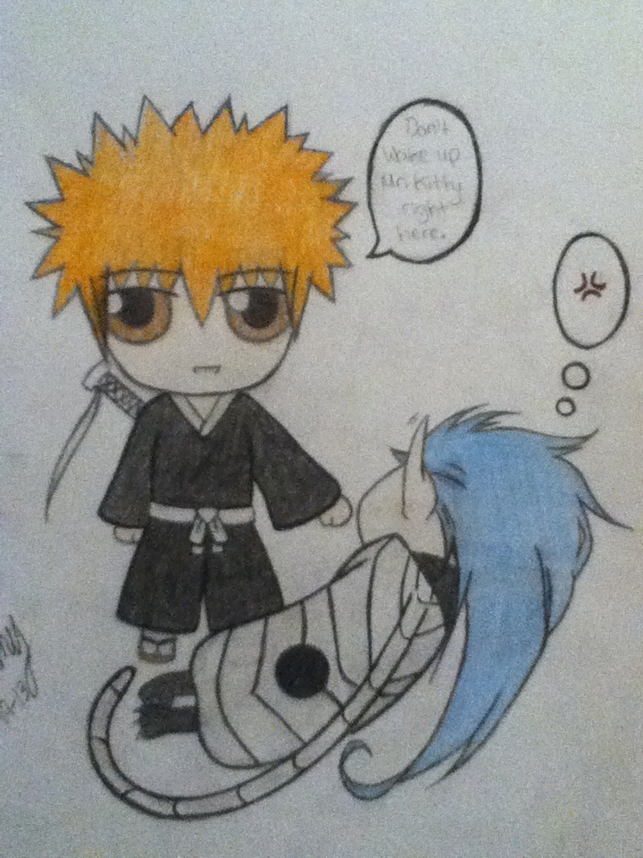 Chibi Ichigo and Grimmjow (release form) by Grimmy46 on ...