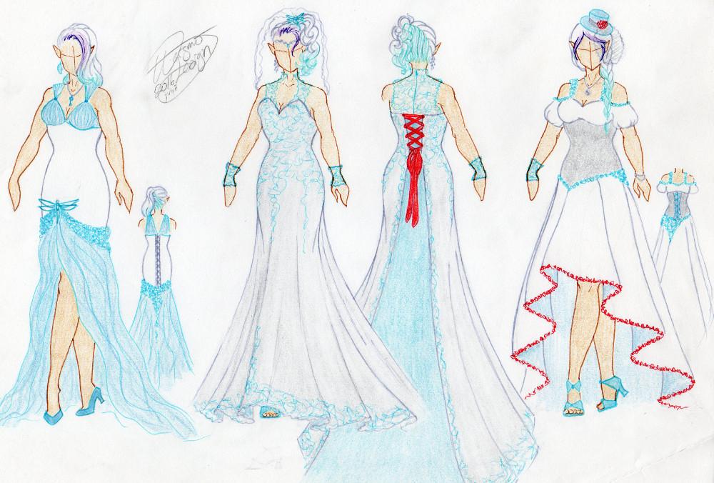 Ana's wedding dresses by WargmoDesign