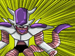 Frieza's 3rd form stand colour by Queen-Koopa