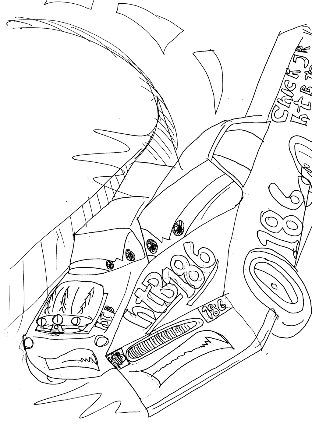 snot rod coloring pages - photo#13