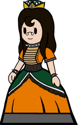 Paper Queen Koopa(Bowser dress/crown) by Queen-Koopa