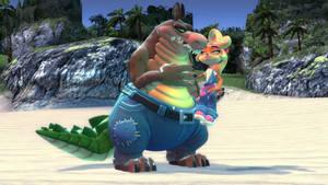 Dingo x Coco beach date