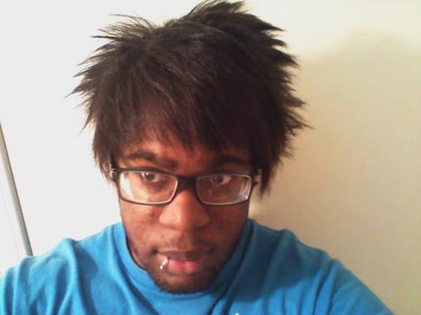 anime hair.
