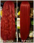 Wig Transformation Process by SamanthaLynnCosplay