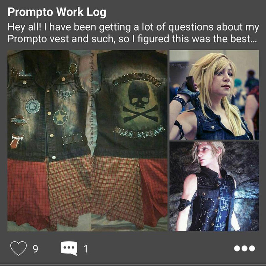 Prompto Work Log on Cosplay Amino by SamanthaLynnCosplay