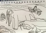 When dragons hunted elephants by DinoDragoZilla17
