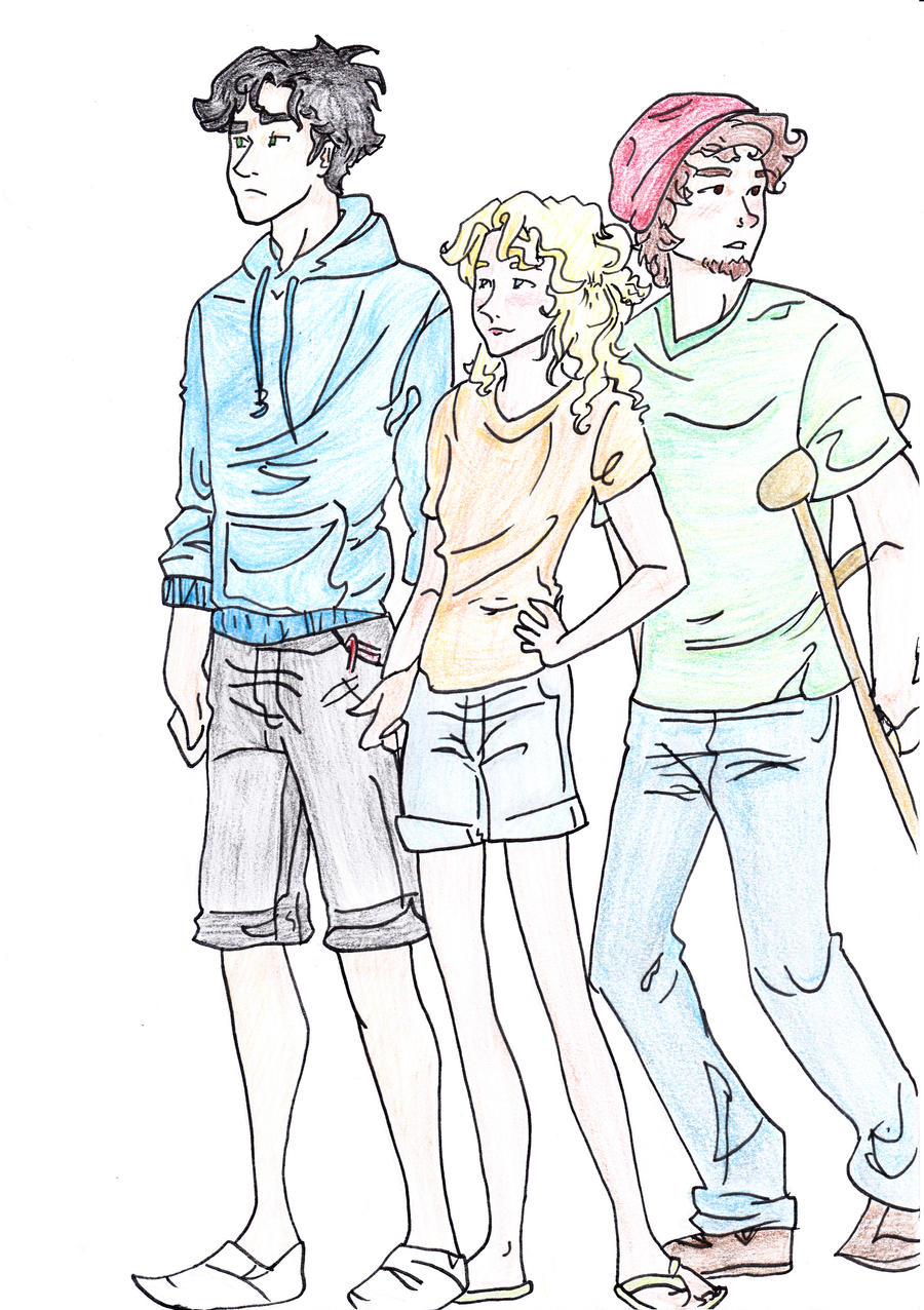 Percy  Annabeth and Grover by TeoclioPercy Jackson Grover And Annabeth