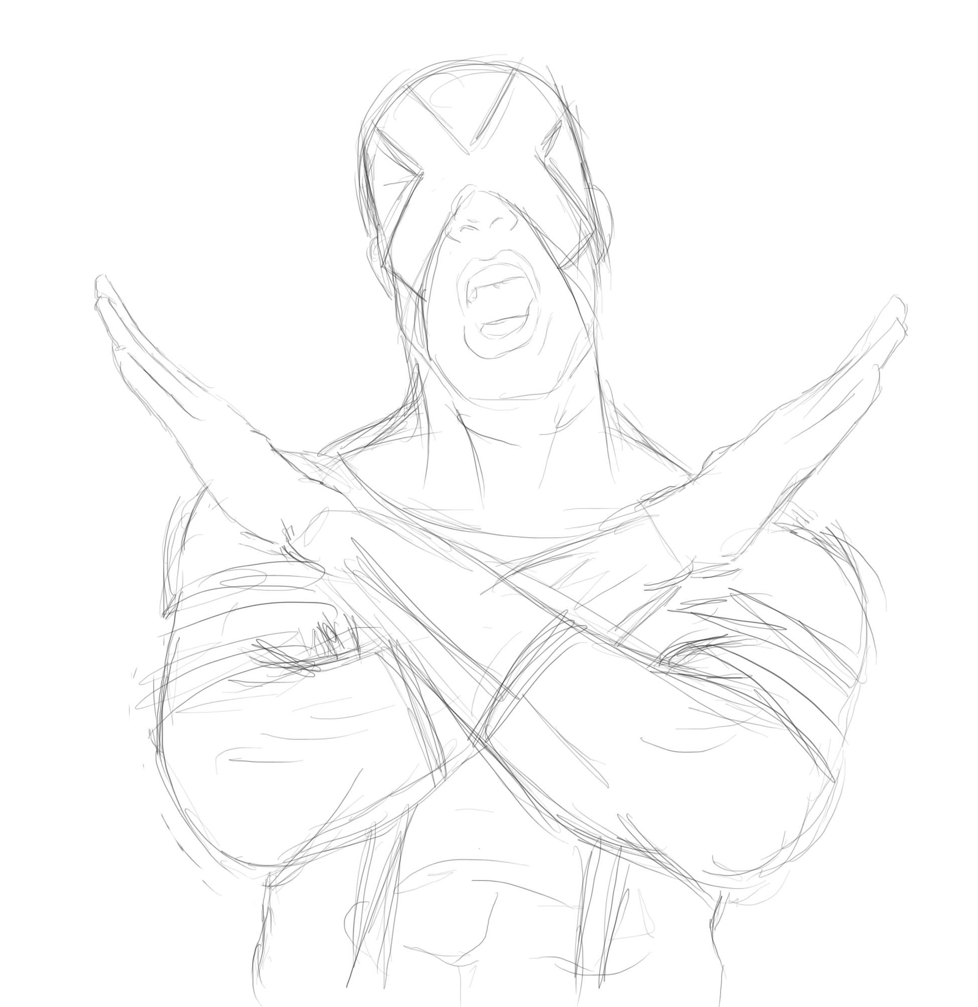 X Men Cyclops Drawings cyclops new x men sket...