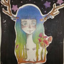 pencil girl by J-aimerais
