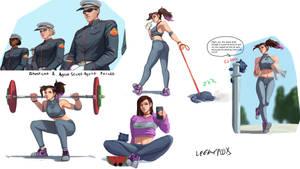 OC pose sketches 4