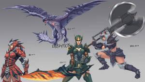 Monster Hunter Fanart Speedpaints