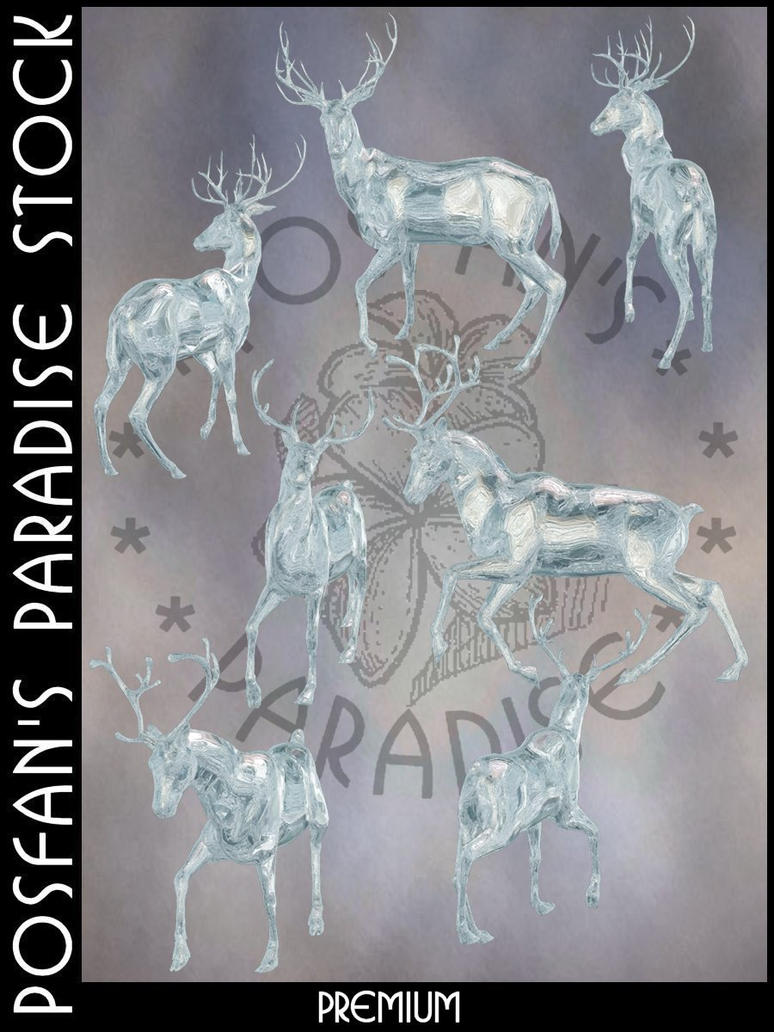 Premium 012 - Ice Sculptures Deer by poserfan-stock