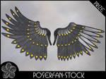 Metal Wings 004 Iron by poserfan-stock