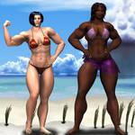Tonga Muscle Woman, conservati